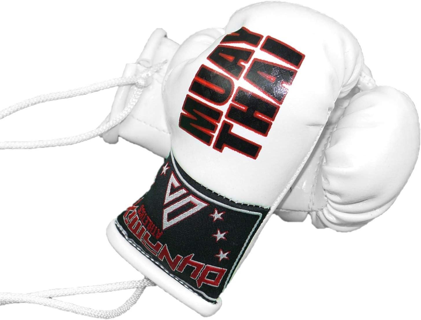 4 bo/îtes Variantes MMA Muay Thai Fighter r/étroviseur Suspension de r/étroviseur r/étroviseur int/érieur Dynamix Athletics Mini Gants de Boxe pour Voiture remorque r/étroviseur