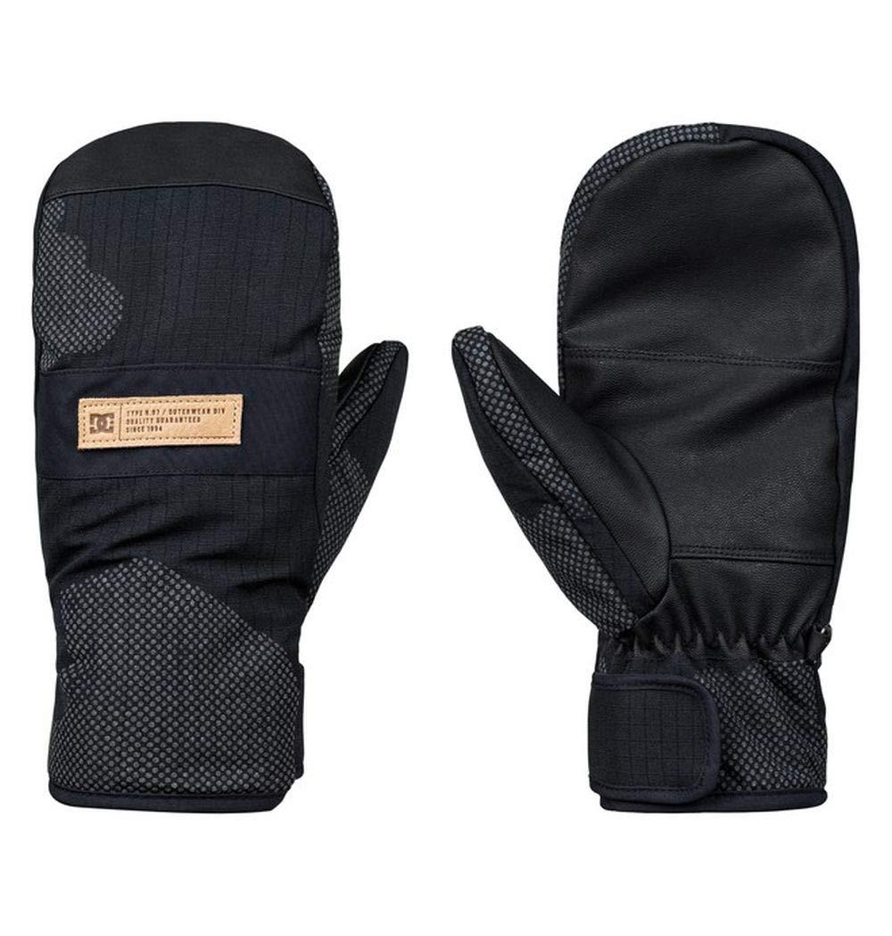 DC Men's Franchise SE MITT Snow Glove, Black DCU Reflective camo Melon, S