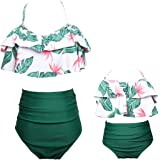 Qunlei Mommy and Me Swimsuits Family Matching Two Pieces High Waisted Bikini Set for Women Girls