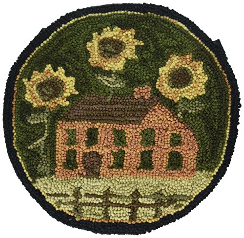 Park Designs House and Sunflowers Hooked Chair Pad by Park Designs