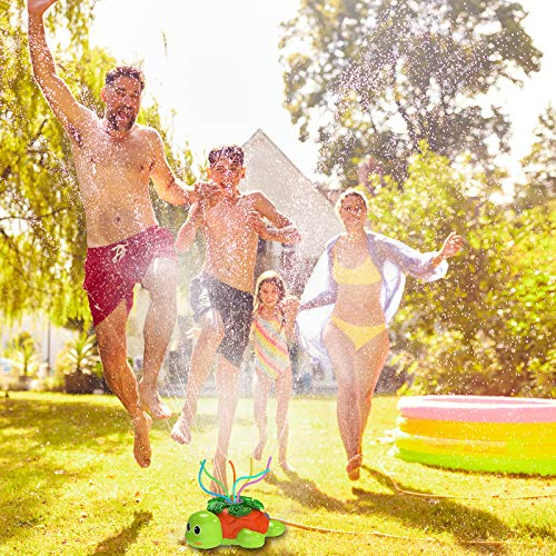 Kiztoys Water Sprinkler For Kids Outdoor Play- Premium Turtle Sprinkler For Kids, Outdoor Water Play Sprinklers, Fun Yard Toy Sprinkler Outdoor, Water Sprinkler For Lawn, Splashing for Fun Summer Days