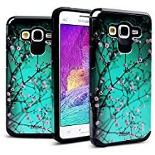 Galaxy Grand Prime Case Shockproof, Miss Arts [Pattern Series] Slim Anti-Scratch with [Gift Box] [Drop Protection] Heavy Duty Dual layer Case Cover for Samsung Galaxy Grand Prime G530 [Plum Blossom)]