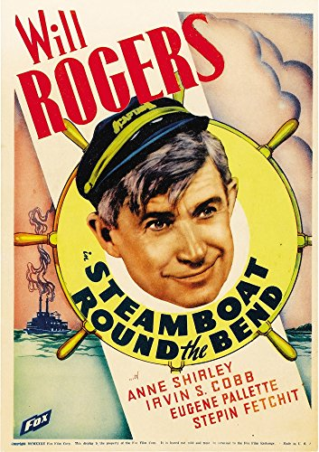 Posterazzi Steamboat Round The Bend Will Rogers On Midget Window Card 1935 Movie Masterprint Poster Print, (11 x 17)
