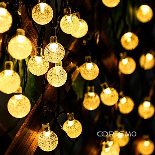 Clear Globe Solar String Lights : Coresmo Solar String Lights 19.8ft 31LED Crystal Globe light - Import It All