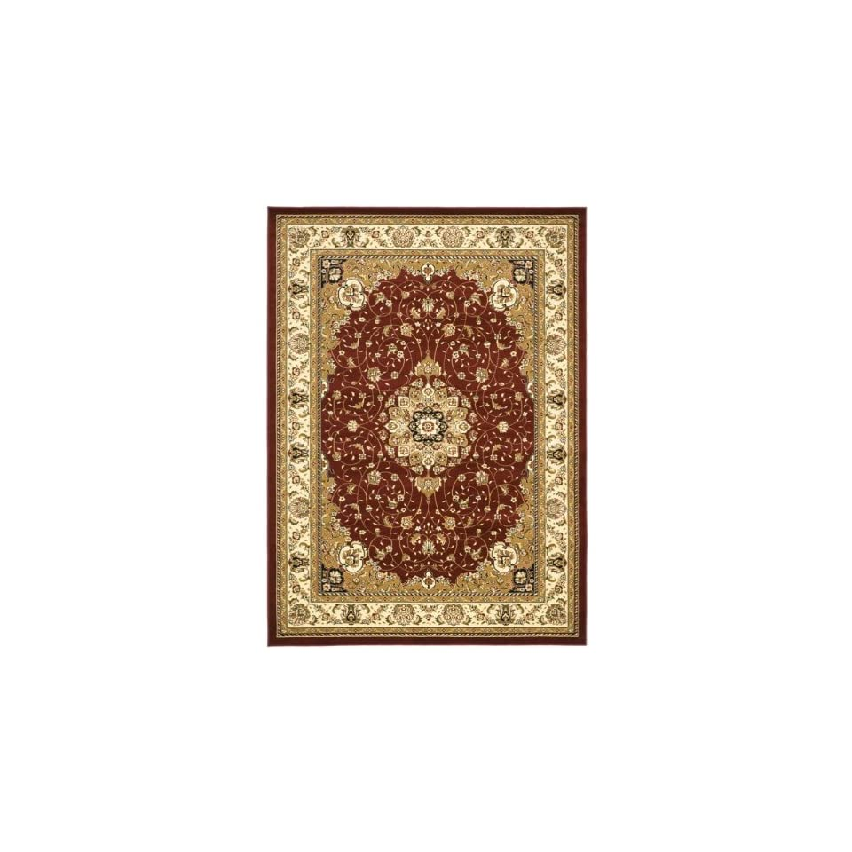 Safavieh Lyndhurst Collection LNH329C Traditional Medallion Red and Ivory Rectangle Area Rug (811 x 12)