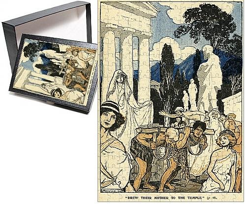 Photo Jigsaw Puzzle of Cleobis and Bito drawing their mother to the Temple