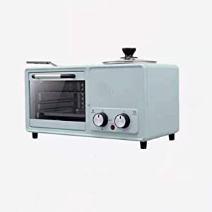 N / B 3-in-1 Family Size Electric Breakfast Station, Non‑Stick Griddle, Toaster Oven, 8llarge Capacity, Multi-Function, Fast Cooking, Low Power Consumption