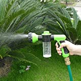 Foam Water Spray Gun, Garden Watering Car Washing Sprayer Nozzle Water Gun - Hose Attachment(Random)