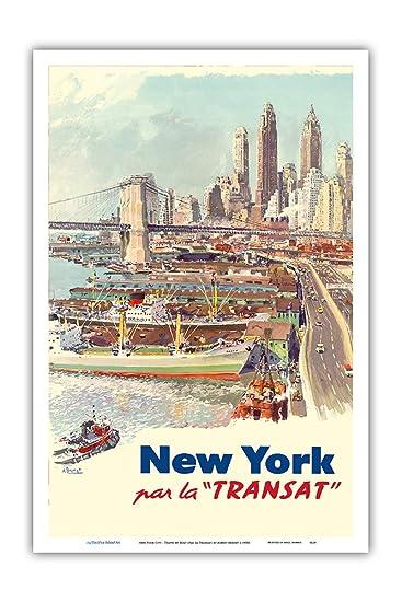 Amazon.com: Póster de la isla Pacifica Art - New York City ...