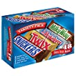 SNICKERS, TWIX, 3 MUSKETEERS & MILKY WAY Full Size Bars Variety Mix, 18-Count Box