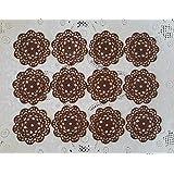 Dark Chocolate 24 PC Edible Lace Round Doily - Cupcake, Cake, Cake Pop, Petite Four, Coffee, or Tea