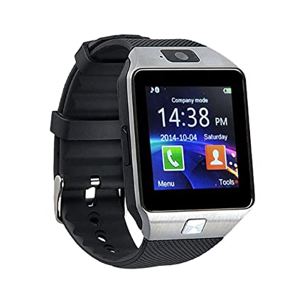ZXEGA DZ09 Bluetooth Smart Watch with Touchscreen, multifunctional TF and  Sim Card Support With Camera, and Multi-Language for All Smartphones (Black)
