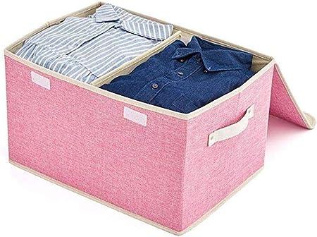 Kentop - Cajas de almacenaje (45 x 30 x 25 cm, con Tapas, Asas y Manta), Color Rosa: Amazon.es: Hogar