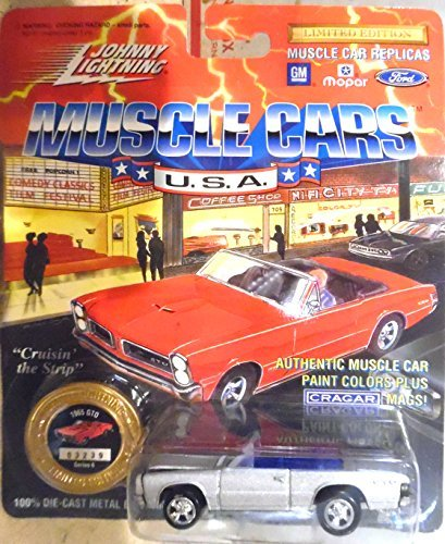 Johnny Lightning JOHNNY LIGHTNING MUSCLE CARS USA 1965 PONTIAC GTO Limited Edition car - Silver Convertible Cragar Mags Mopar Series Die ()