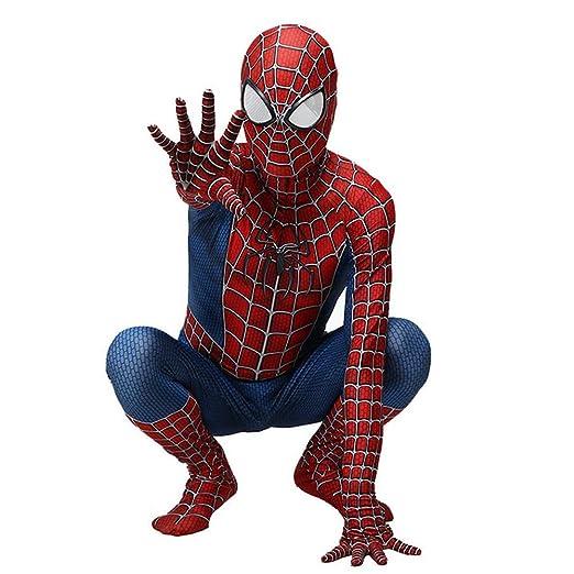 RNGNBKLS Niño Adulto Spiderman Homecoming Disfraz Halloween Carnaval Cosplay Spiderman Suit Spandex/Lycra 3D Print Spiderman Traje,Child-L