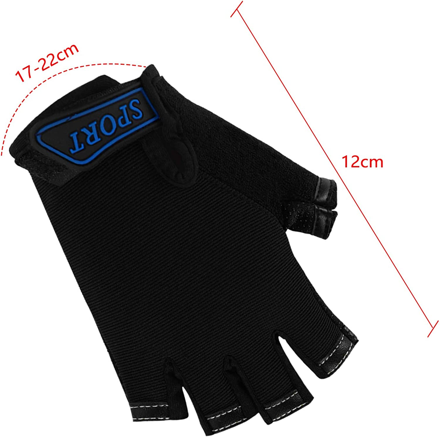 IPENNY Girls Boys Half Finger Cycling Gloves Sport Gym Gloves Racing/ Mitts Non-Slip Gel Short Finger Breathable Summer Gloves Mountain Road Bike Riding Bicycle Running/ Gloves