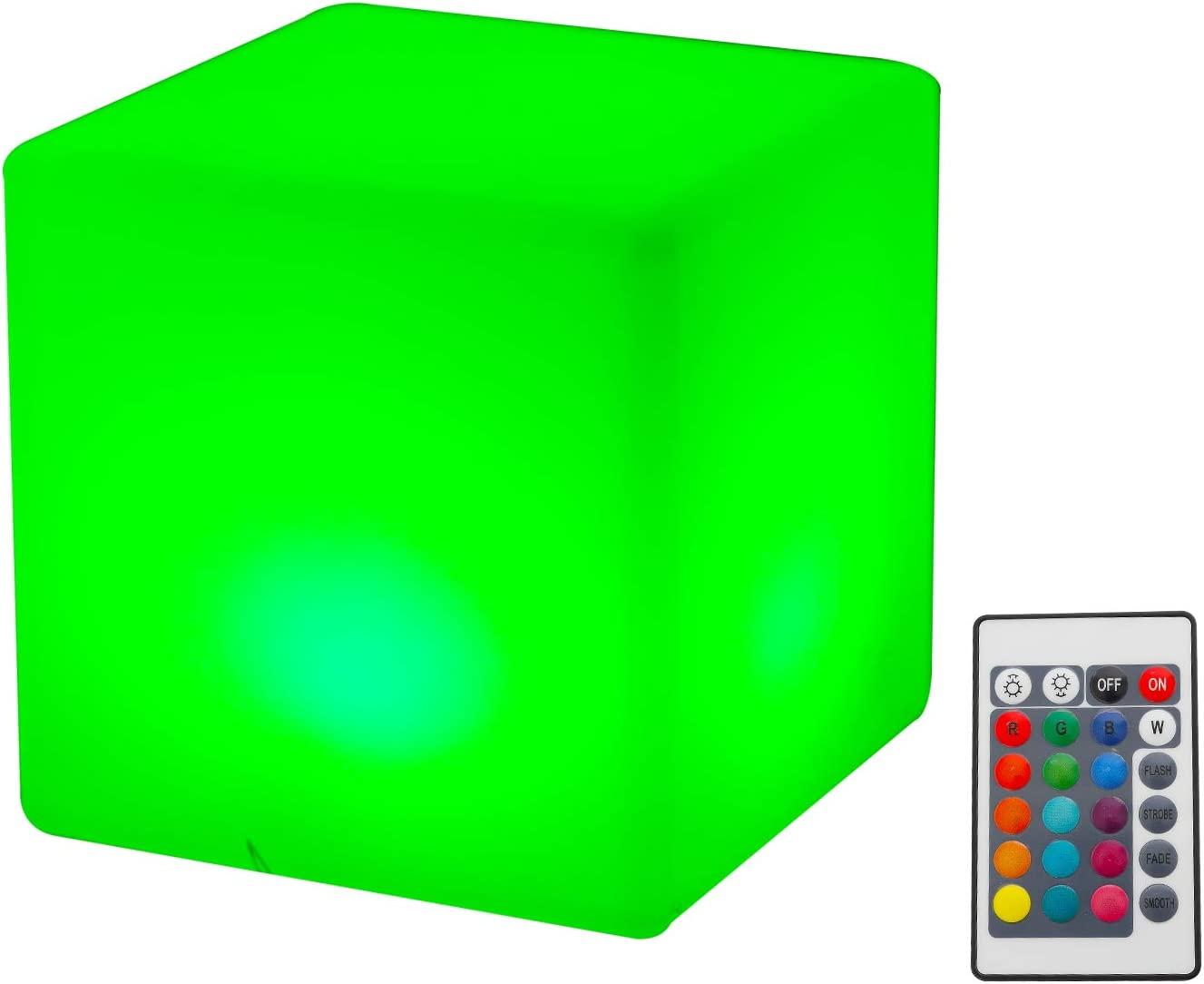 """Topadorn LED Night Light Cube 5"""" Mood Lamp w/Remote, 16 RGB Color Changing & 4 Modes Glowing Table Light,USB Rechargeable Multi-Function Ambient Light for Kids, Home, Garden, Party Decor"""