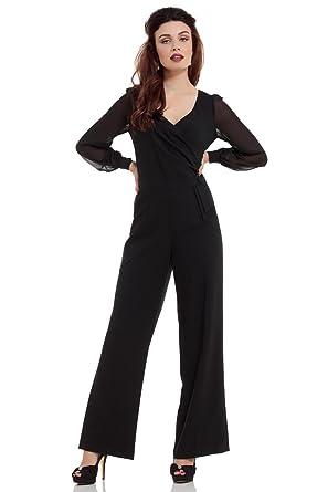 0ac056a940a VOODOO VIXEN Women s Jumpsuit - Black - XL  Amazon.co.uk  Clothing