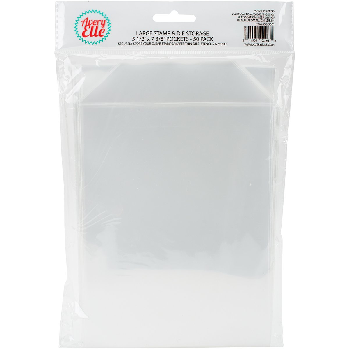 Avery Elle SS-5001 Stamp and Die Storage Pockets 50/Pkglarge 5.5''X7.25'', Single Pack