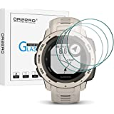 (3 Pack) Orzero Compatible For Garmin Instinct Smartwatch Tempered Glass Screen Protector, 2.5D Arc Edges 9 Hardness HD…
