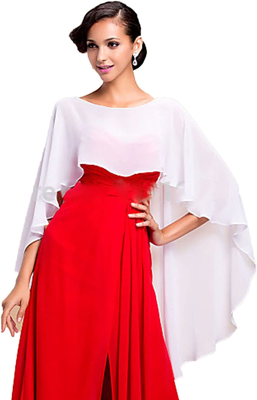 Madedress Chiffon Braut Hochzeit Capes Wraps Frauen Abendkleid Stola Brautjungfer Schals Braut Wraps