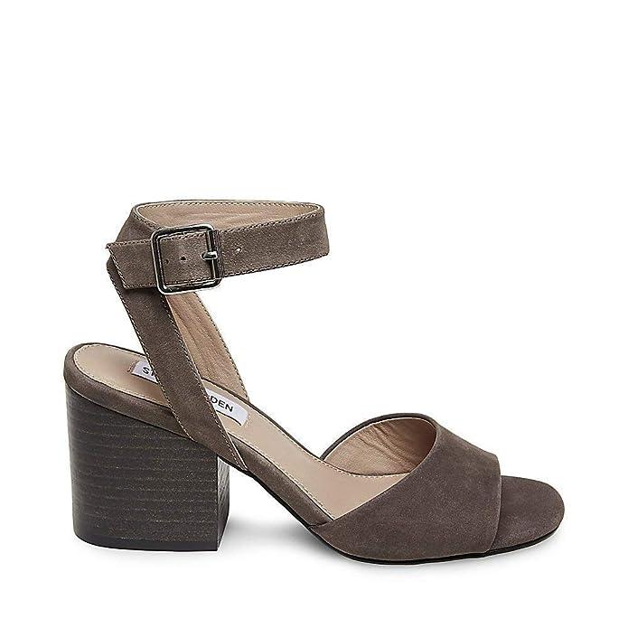 3e75e6db4f9 Steve Madden Womens Devlin Leather Peep Toe Casual Ankle Strap Sandals