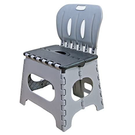 Superb Kids Preschool Folding Chair With Back Super Strong Plastic Child Step Stool Grey Unemploymentrelief Wooden Chair Designs For Living Room Unemploymentrelieforg