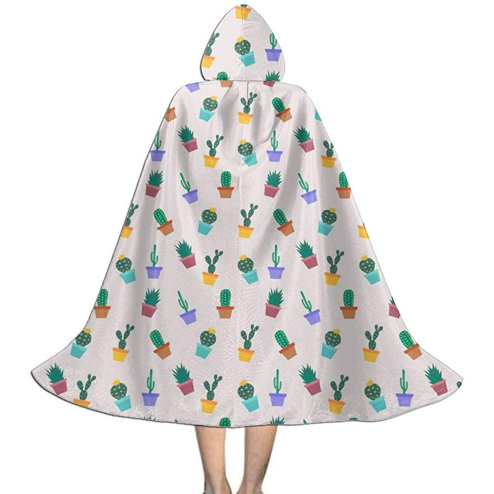 Niños Cute Cartoon Cactus Garden Halloween con Capucha Cape Cloak ...