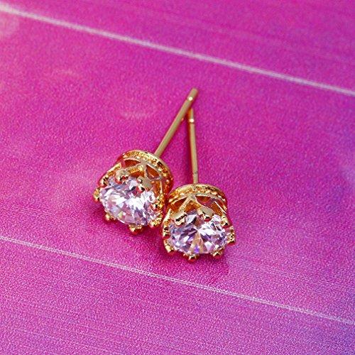 YAZILIND 18K Vogue Or Elégant Plaqué zircon Boucles d'oreilles inoxydable Set pour les femmes