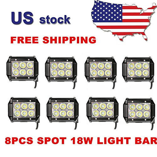 8pc Premium 18w Bear Claw Brand LED Work Light Prime led pro utility lamps