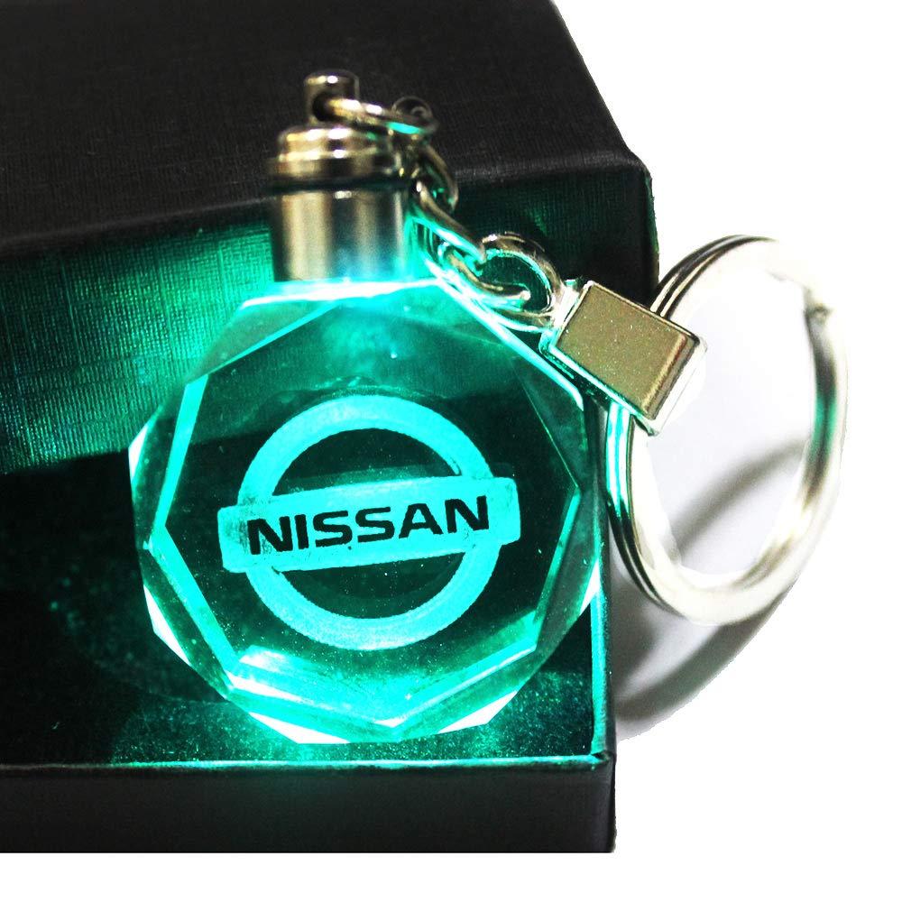VILLSION LED Portachiavi Auto Accessori Chiave con Scatola Regalo Cambia Colore Luce di Cristallo
