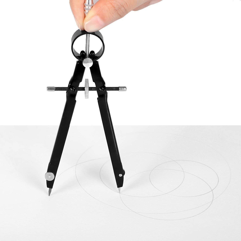 Zeichnen 15,2 cm Federbogen Zeichnen Dasing Professionell mit Schloss f/ür Geometrie Pr/äzisions-Mathematik 2 St/ück