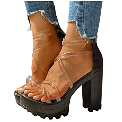Haomigol Women Cut Out Gladiator Flat Sandals Knee High Boots Sandals Lace up Open Toe Strappy Sandals Wide Width Sandals: Clothing