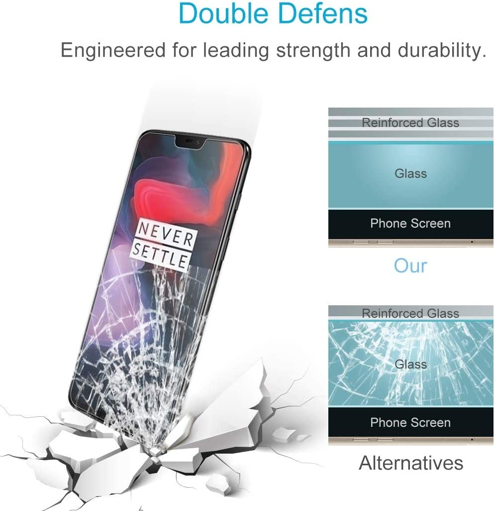 ZENGMING Tempered Glass Film Screen Protector 0.26mm 9H 2.5D Tempered Glass Film for OnePlus 6 Anti-Scratch