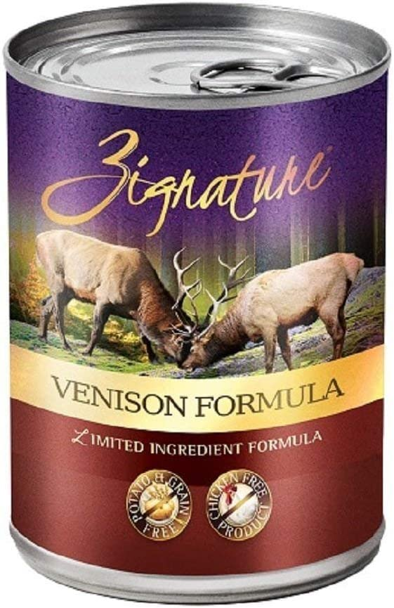 Zignature 12 Pack Venison Formula Grain Free Canned Wet Dog Food, 13 oz ea. Grain Free Wet Dog Food! 12 Cans Total
