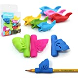 Pencil Grips, Firesara New Design Ergonomic Butterfly Wing and Fish Style Colored Pen Training Grip Holder Hand Aid for Adult Children Kindergarten Toddler Kids Special Needs (9 PCS) ¡