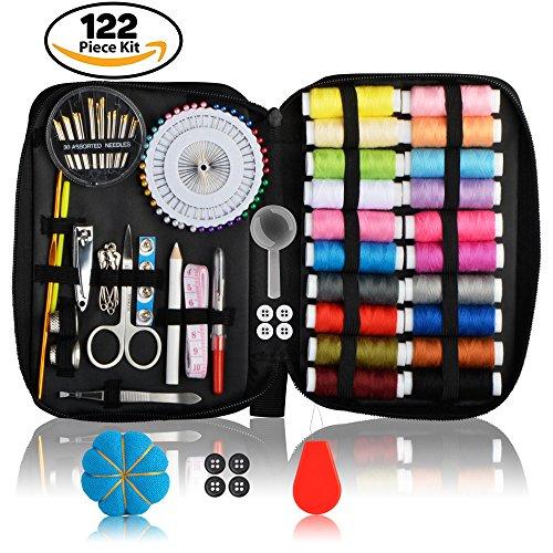 Kanggardo Sewing Kit Over 120 Premium Sewing Supplies,Mini Beginners Travel Emergency Sewing...