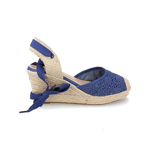 36ace82c0ca Espardena Valenciana con Cuna de Yute Hecha en Crochet Primavera Verano 2019:  Amazon.es: Zapatos y complementos