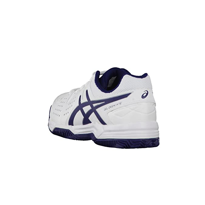 Asics chaussures de tennis pour homme 4 gel dedicate e508Y clay 47 Blanc - White/Navy/Silver