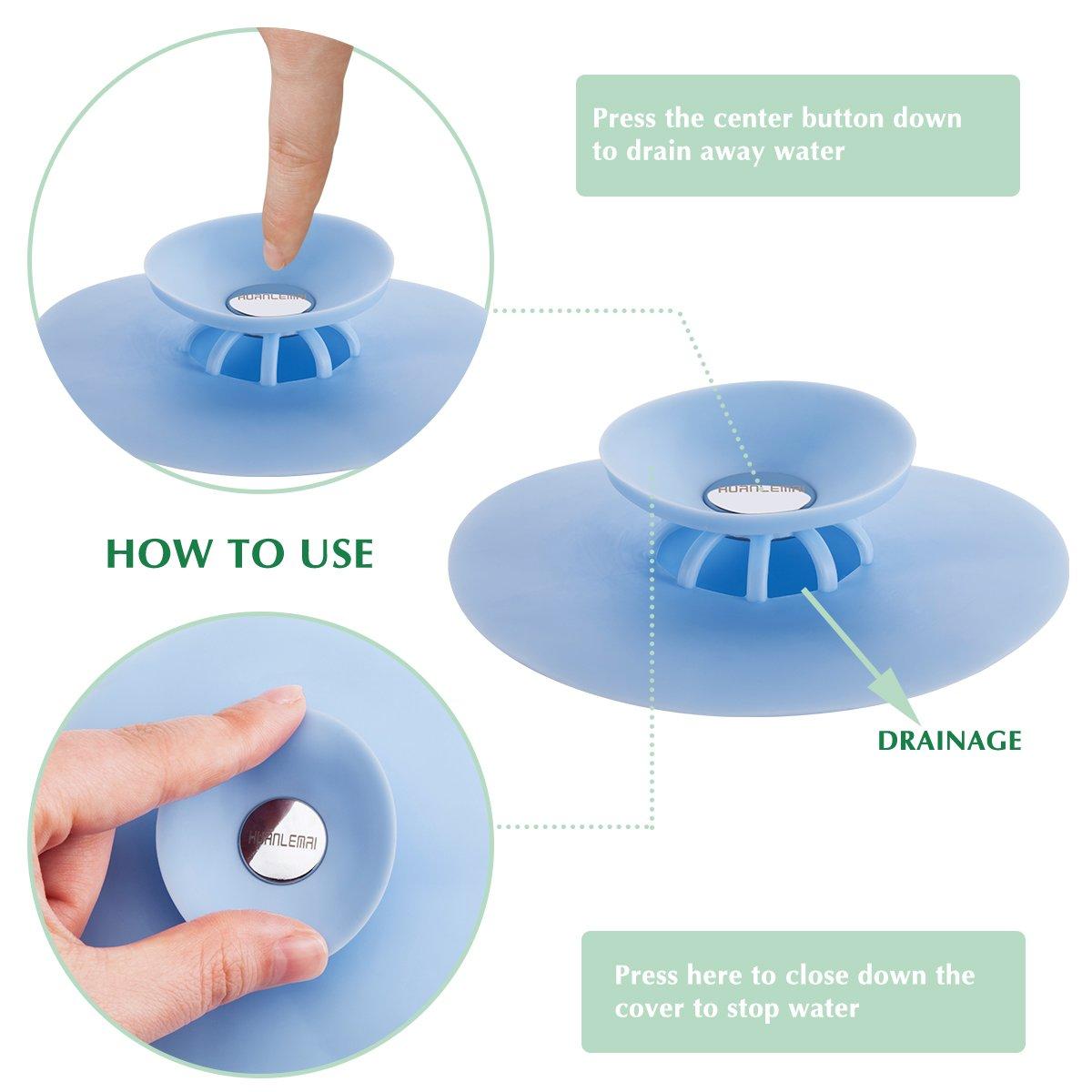 HUANLEMAI 3pcs Shower Drain Stopper Deodorizer Plug Hot Bathtub ...