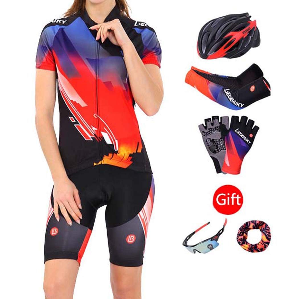 B Biker Shorts, Cycling Jersey Bike Shorts Women Fitness Clothes Soft Breathable Perspiration Waterproof with Padded for Outdoor Sports MTB Road Bicycle,B,L