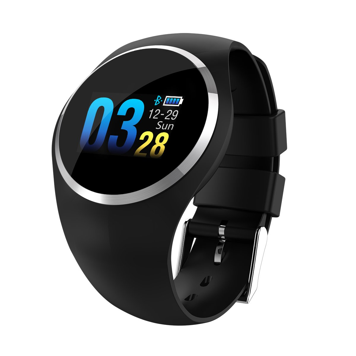 Fitness Tracker Smart Watch,VIEE Pedometer Watch Sport Wristband Activity Tracker IP67 Waterproof Slim Smart Band with Step Calorie Counter 20 Sports Modes,Pedometer for Kids Women Men (Black)