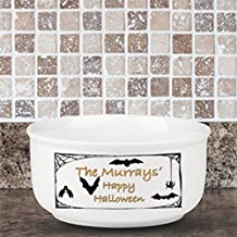 Personalized Family Name Happy Halloween Bowl