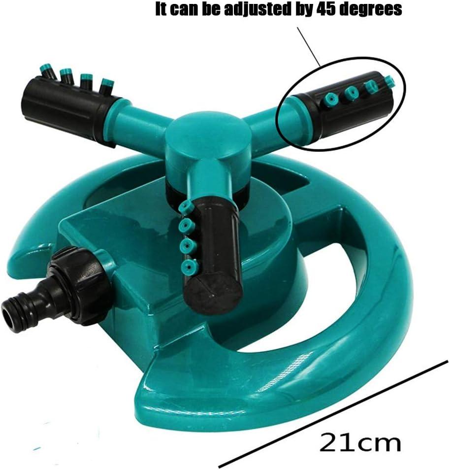 MNJM Arroseur de Jardin arrosage Automatique 3 Bras arroseurs pulv/érisateur deau 360 Rotation pour lirrigation de la pelouse
