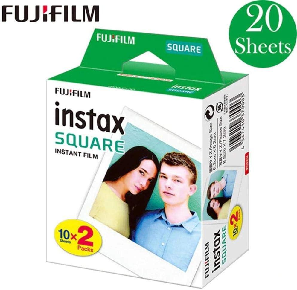 Haodene Polaroid películas fotográficas instantáneas para Camara Fujifilm Instax Square SQ10 SQ6 SQ20, Borde Blanco/Negro: Amazon.es: Electrónica
