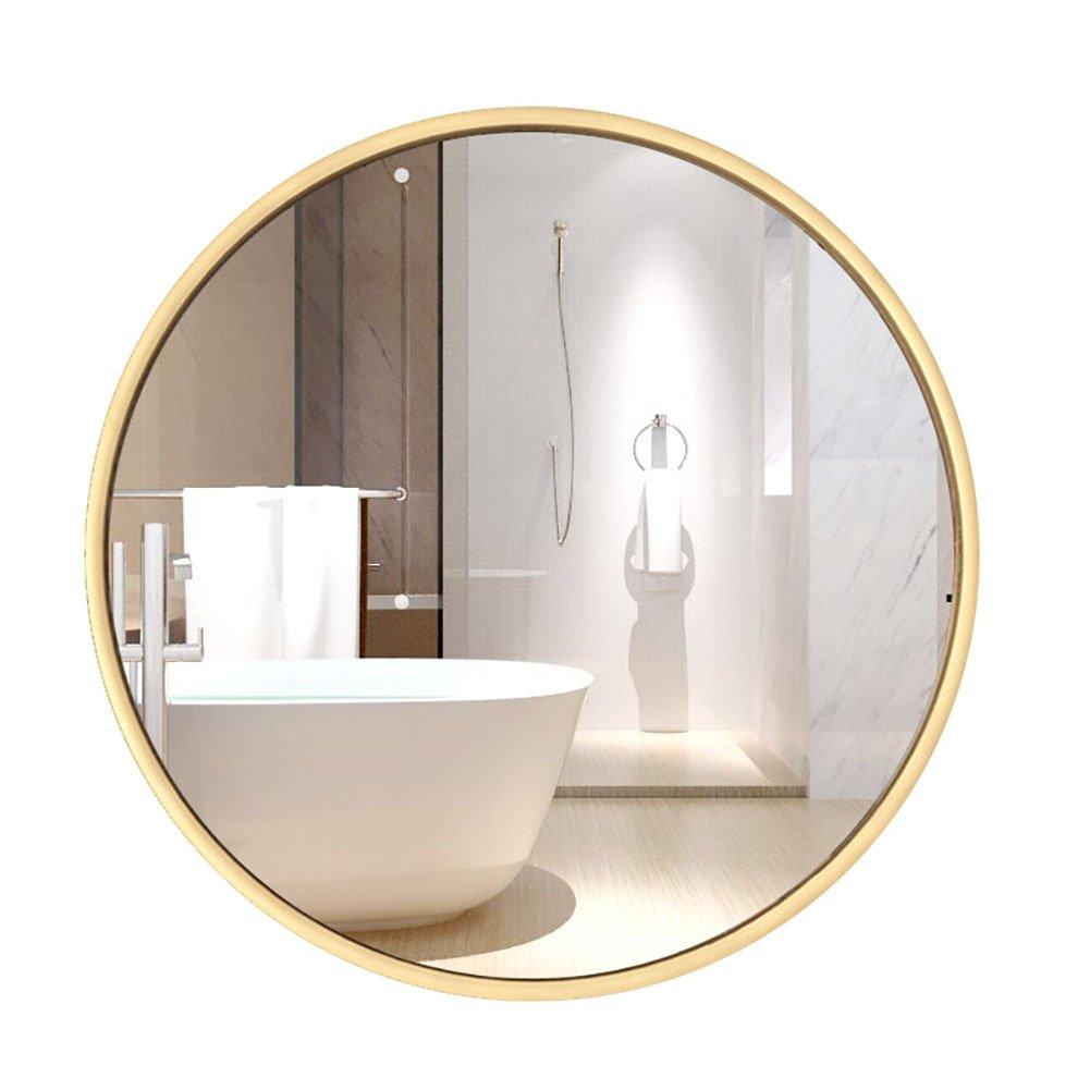 GUOWEI 鏡 円形 アイアンフレーム 壁掛け バスルーム 化粧 4色 (色 : 白, サイズ さいず : 60x60cm) B07DKBSBYR 60x60cm|白 白 60x60cm