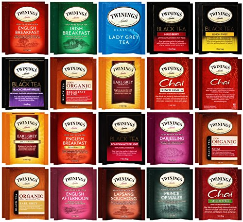 Twinings Tea Bag & By The Cup Honey Stix Variety 40 Ct including English Breakfast, Earl Grey, & More by By The Cup