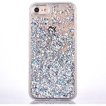 glitter iphone 7 case silver