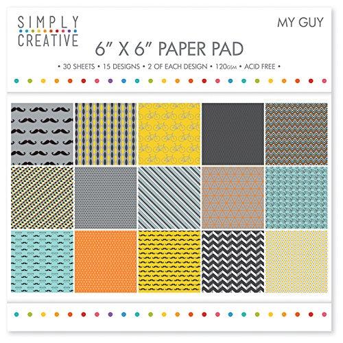 Trimcraft SCPAD004 Simply Creative Paper Pad 6x6 30/Pkg-My Guy by Trimcraft B01BTZ5XL0