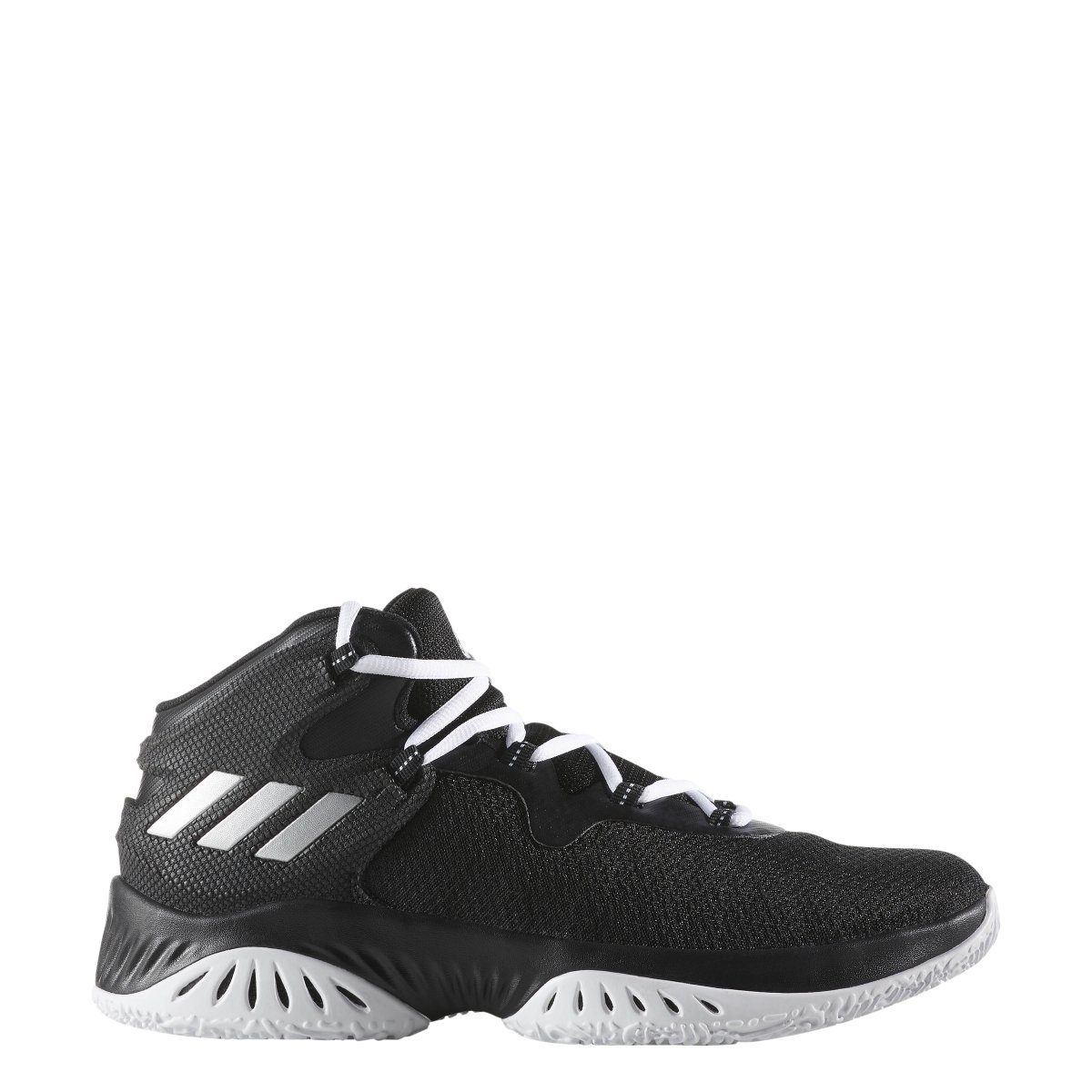 adidas Men's Explosive Bounce Running Shoe B076FN1R9X 5.5 D(M) US|Black-silver Metallic-white